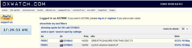 FR5EC Reunion Island spot and QSO