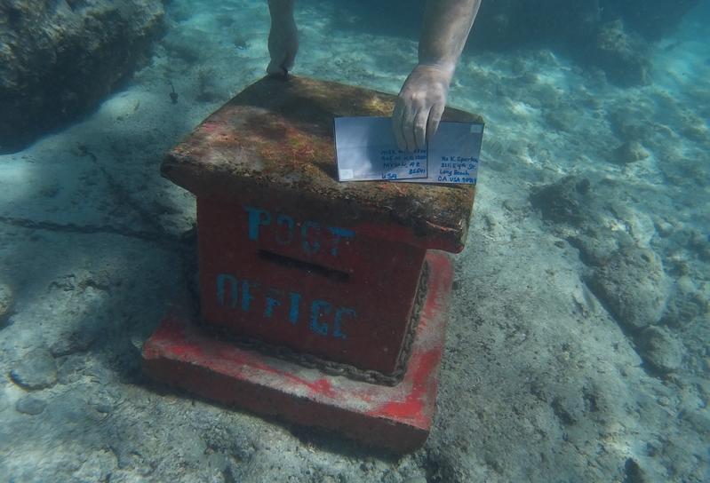 Underwater Post Office Box