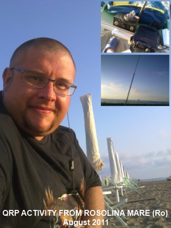 iw3ids qrp activity cw from Rosolina Mare (Rovigo) August 2011