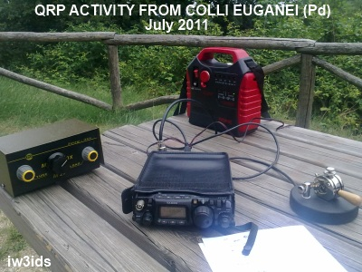 iw3ids qrp activity cw from Colli Euganei (Padova) July 2011
