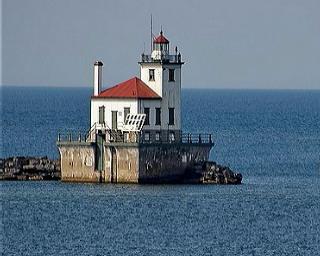 Historic Lighthouse Oswego Harbor