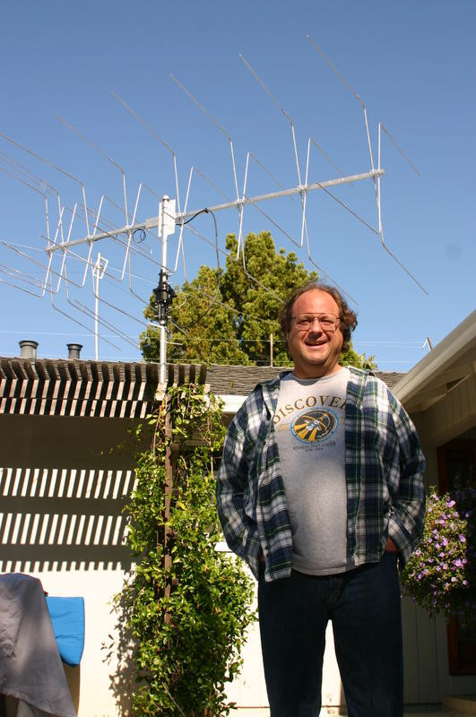 image shows me standing in front of the boxkite yagi