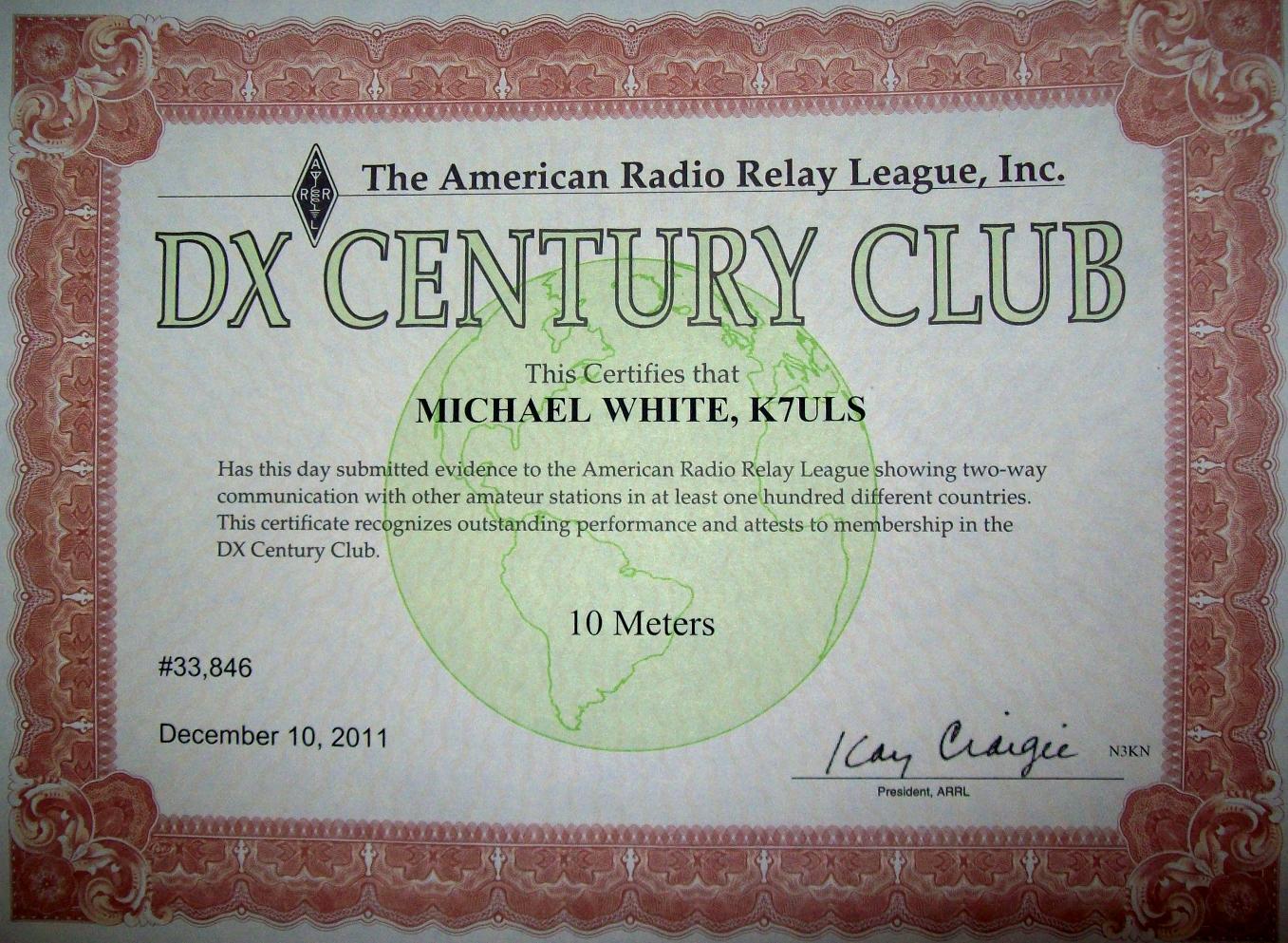 10 METERS DXCC