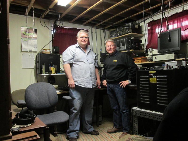 Matt (KD0EZS and Jim (AC0E) after completion of the Nov 2013 ARRL Sweepstakes, (clean sweep)