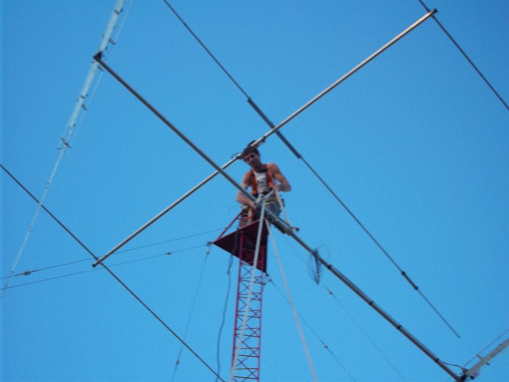 Montando antena de 40 metros