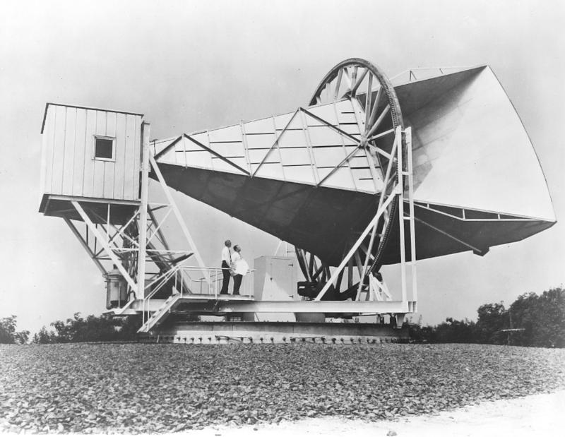 Dr. Hogg's Horn Antenna in Holmdel NJ on July 1962