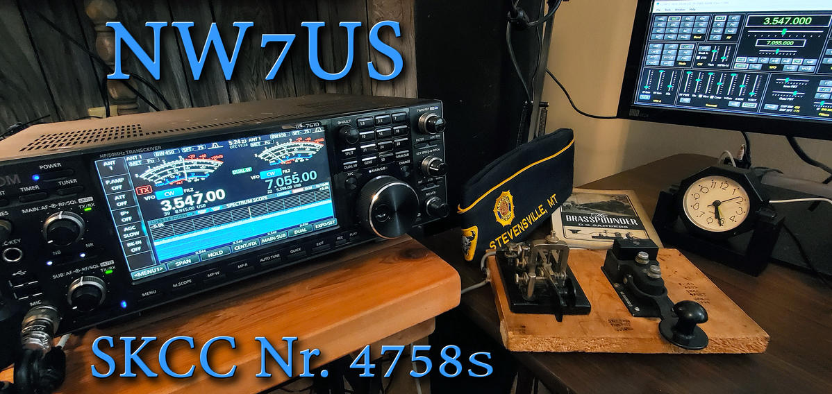 The current station of NW7US; Icom IC-7610