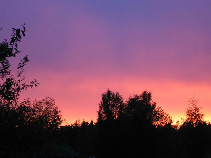Sunset in Finspong