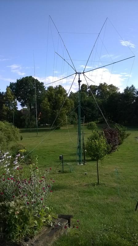 My new 2EL Cubical Quad antenna made by SP3GEM