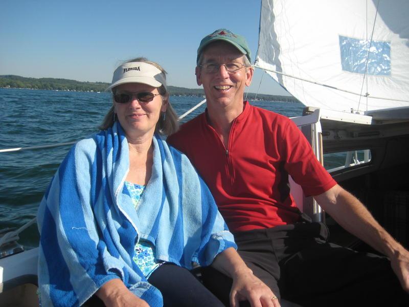 Sailing on Canandaigua Lake with Carole (XYL)