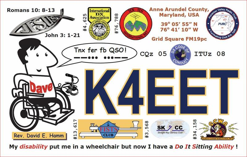 K4EET QSL Card (Front)