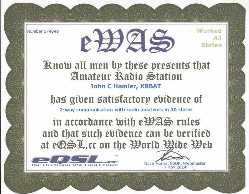 Ewas From Eqsl 001 Army Security Agency Amateur Radio