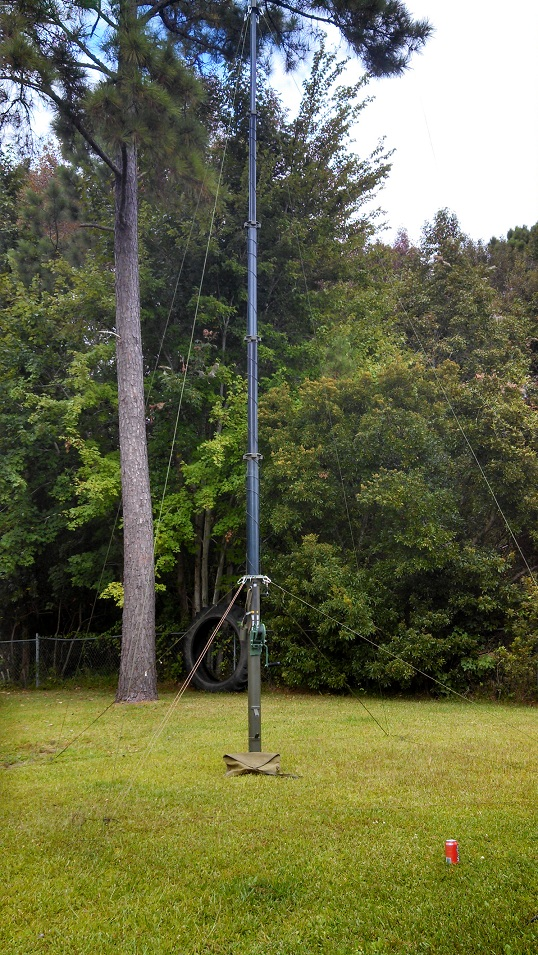 My 30 foot, portable extendable mast