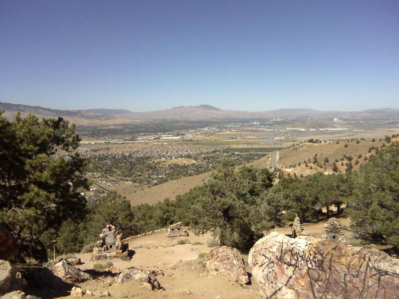 Looking north to Reno.