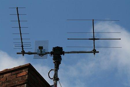 Satellite antennas system at M0SAT QTH
