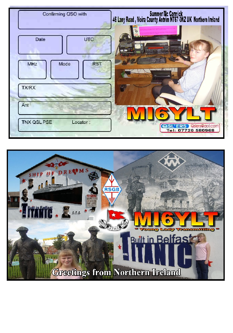This is my QSL card with my old callsign(putting stickers over the mi6)