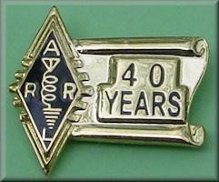 ARRL 40 year pin