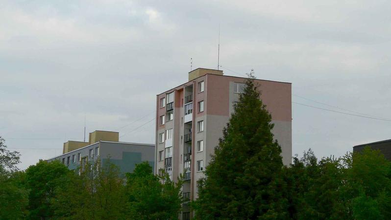 My 9 floor high building and antenna on top