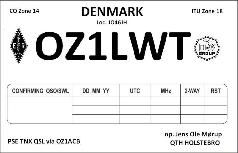 OZ1LWT, HamCall World-Wide Callsign Database
