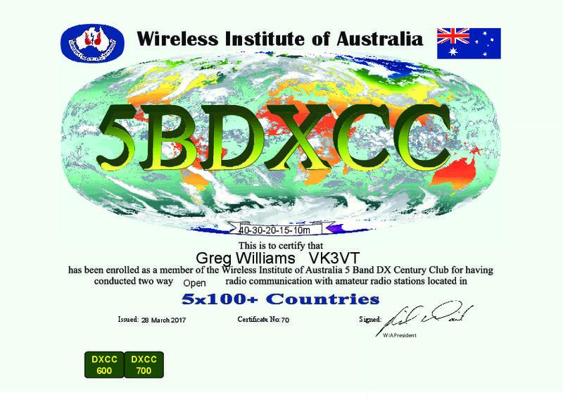 5 Band DXCC