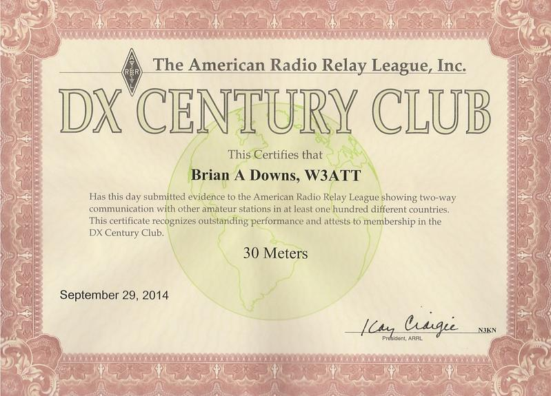 DXCC 30 Meters - mostly CW portable/QRP