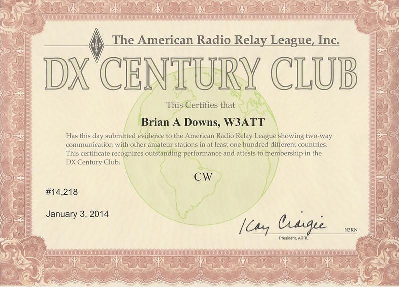 DXCC CW Award