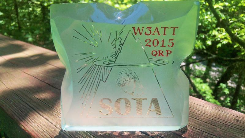 W3ATT SOTA QRP Shack Sloth Award