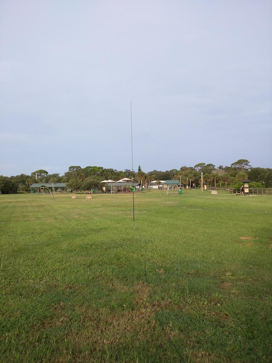 Chameleon MPAS antenna in a park using a spike mount