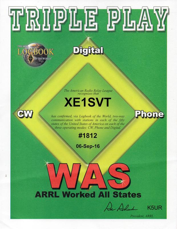 XE1SVT Triple Play WAS
