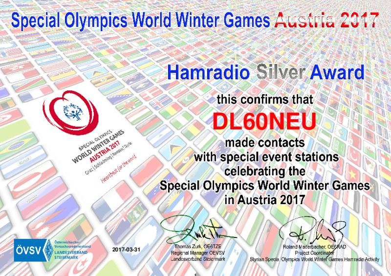 Special Olympica World Winter Games Silver