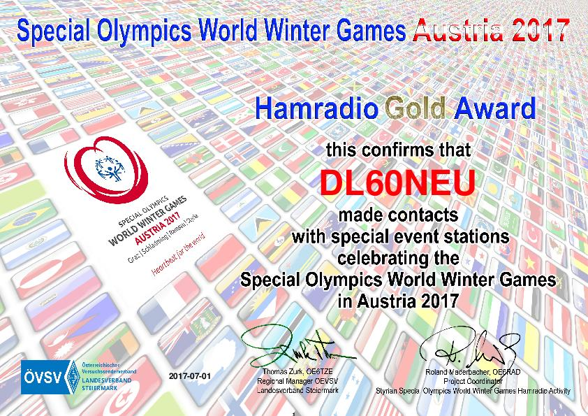 Special Olympics Gold