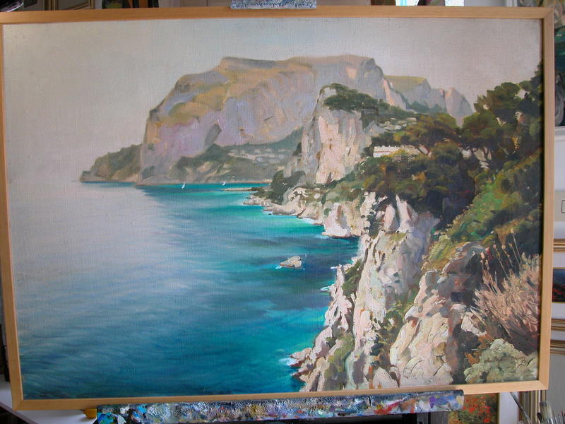 painting by Antonio Palomba 70 x 100 oil on canves