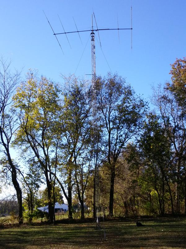 Recently raised TH6DXX to 60 feet to clear the trees.