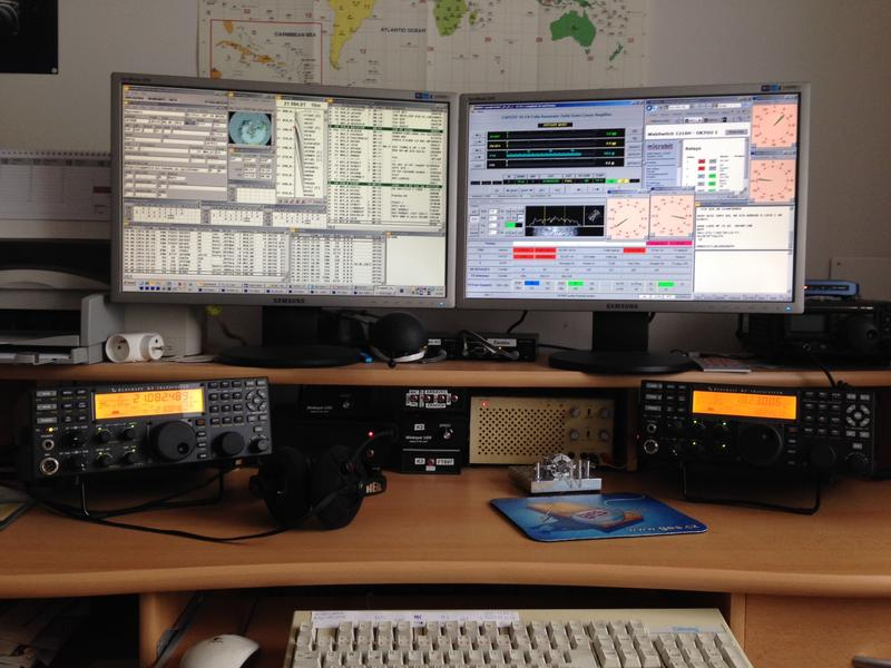 My workplace in my second QTH for remote controll of my both remote sites