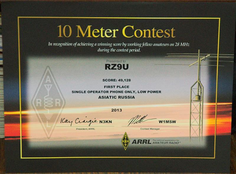 ARRL 10 Meters Contest 2013