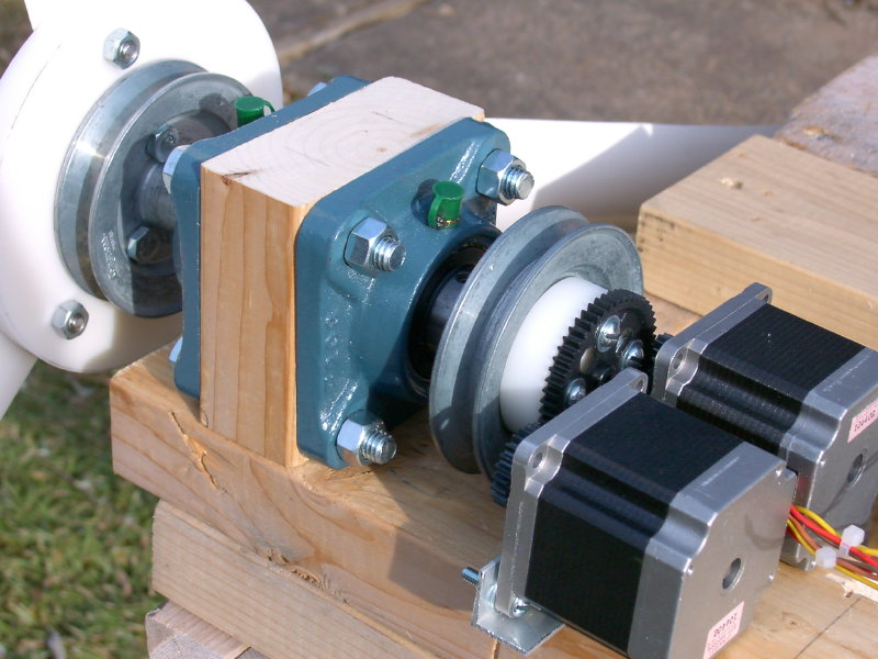 stepper motor as wind generator