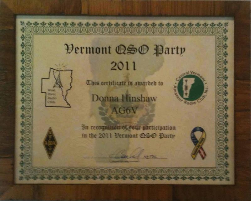 Vermont QSO Party 2011