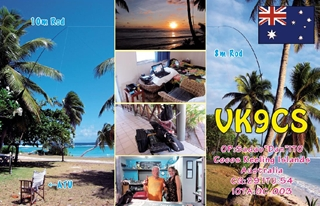 VK9CS QSL Card