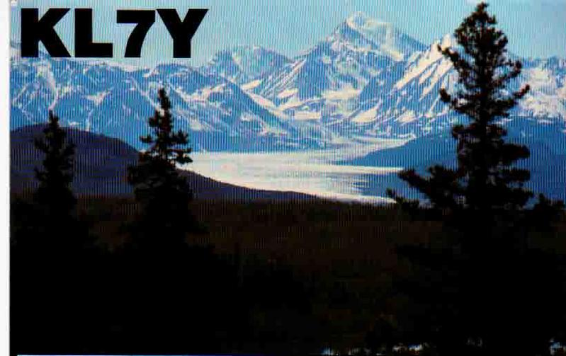 NA - KL7Y (QSL front)