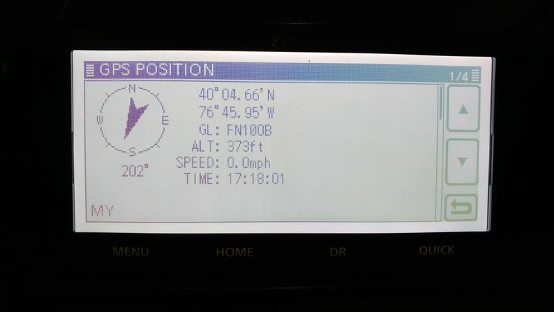 ID-5100a GPS position data screen