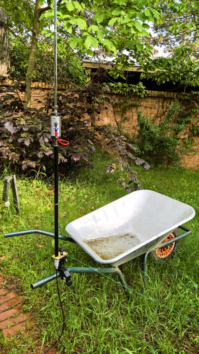 QRV in Austria: Buddistick on Wheel barrow