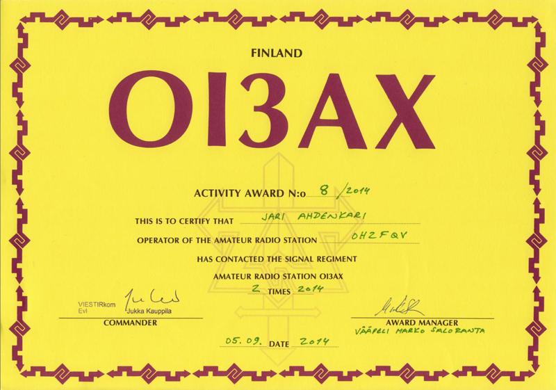 Communicatons Regiment Award #8