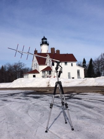 Working SO-50 from Point Iroquois Light EN 76
