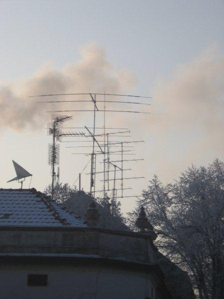 Antenna s on the roof of our QRA