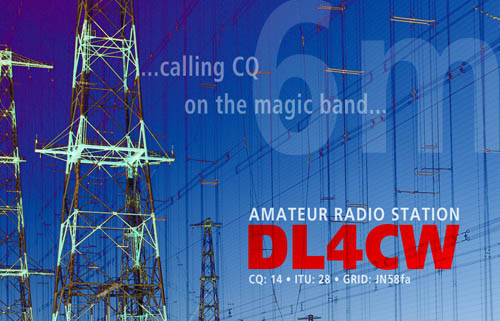 QSL for 6m operation