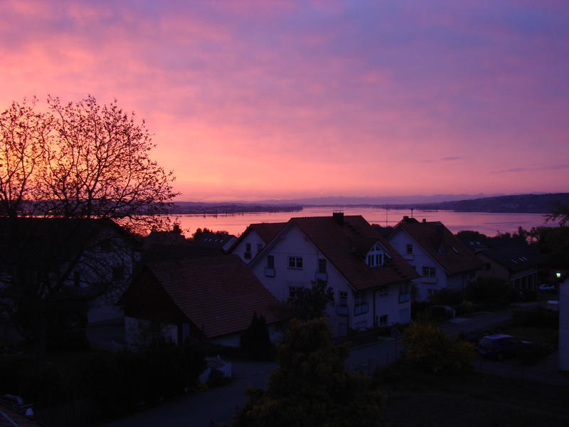 Sonnenaufgang am Untersee (bodensee)