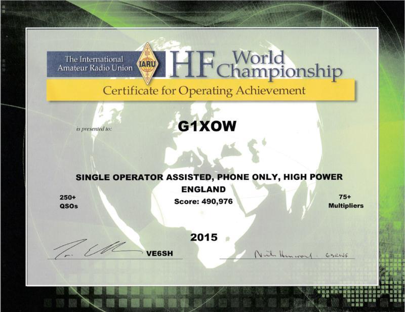 G1XOW IARU HF Championship 2015