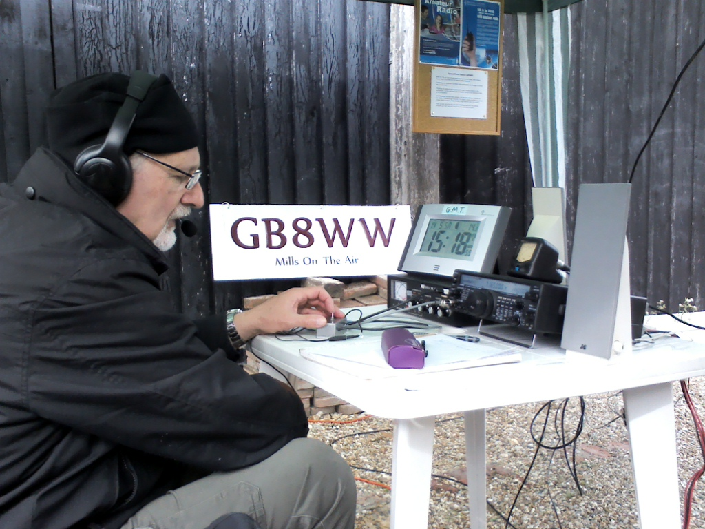 Peter, G8WMZ operating GB8WW, looking rather serious.