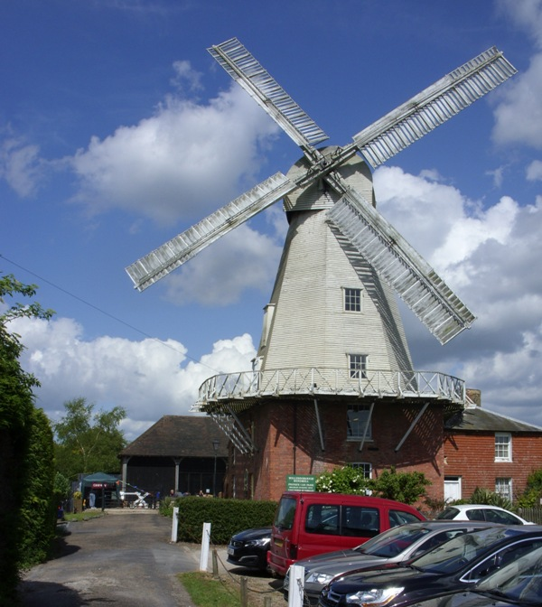 Willesborough Windmill, blue sky and sunshine