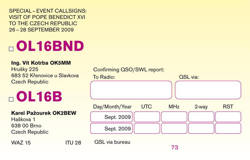OL16B special QSL (back)